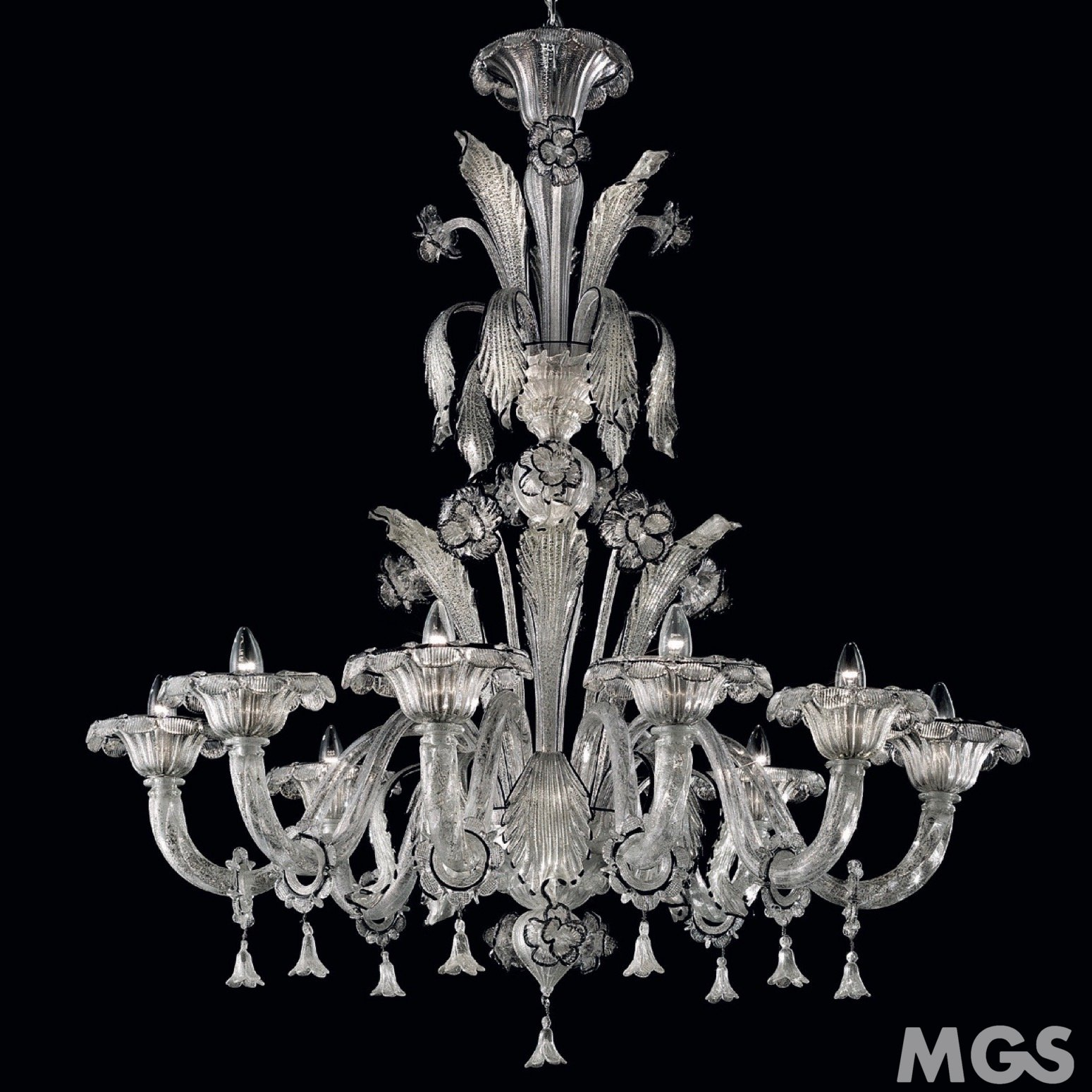 Lampadario Cristallo Argento | Murano Glass Shop